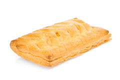 Corn filled pie, fast food or junk food isolated on white Royalty Free Stock Photo
