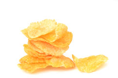 Corn flake. On white background Royalty Free Stock Images