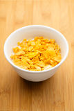 Corn flake in bowl Royalty Free Stock Photo