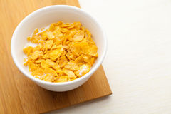Corn flake in bowl Stock Images
