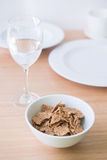 Corn flake in bowl Stock Photo