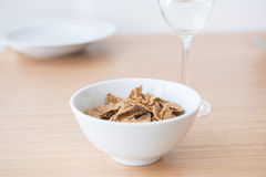 Corn flake in bowl Royalty Free Stock Images