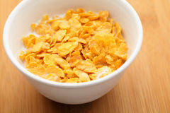 Corn flake in bowl Stock Photos
