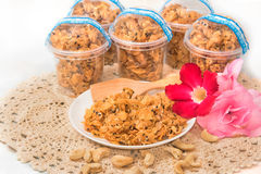 Corn Flake Caramel cereal Stock Photo