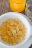 Corn flake cereal and juice Stock Image