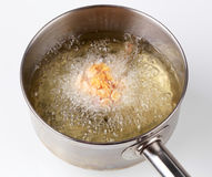 Corn Flake Chicken Drumstick Being Deep Fried Stock Images