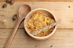 Corn flake in the cup Royalty Free Stock Photos