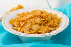 Corn flake in white dish Stock Photography