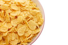 Corn flakes  in а сup with white background Stock Photography