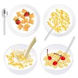Corn flakes. Illustration, AI file included Stock Photo