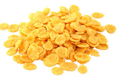 Corn flakes. Crispy corn flakes. An isolated object. White background Stock Image