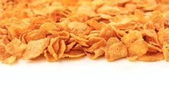 Corn flakes background with copy space Royalty Free Stock Photo