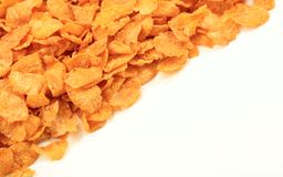 Corn flakes background with copy space Royalty Free Stock Image