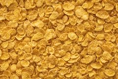 Corn-flakes background and texture, cereal. Corn-flakes background and texture, cornflake cereal box for morning breakfast. cereal Stock Photo