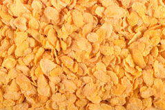 Corn flakes background. Top view Royalty Free Stock Photos