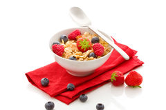 Corn flakes with berries - Isolated Stock Images