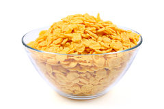 Corn flakes in bowl Stock Photo