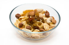 Corn flakes in a bowl Stock Image