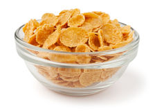 Corn flakes in a bowl Stock Photo