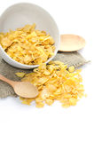 Corn flakes in bowl Stock Image