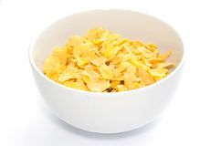 Corn flakes in bowl Royalty Free Stock Photo