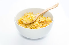 Corn flakes in bowl Stock Photos