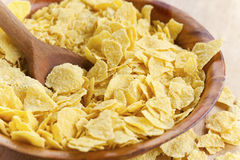 Corn flakes in bowl Royalty Free Stock Photography