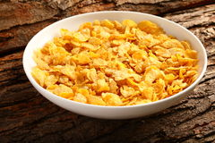 Corn flakes bowl-Breakfast concept, Stock Images
