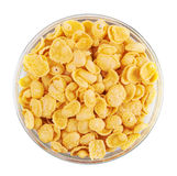 Corn flakes in bowl Royalty Free Stock Image