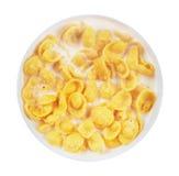 Corn flakes in bowl Stock Photos
