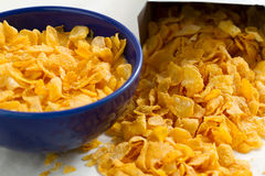 Corn flakes from the box package Royalty Free Stock Image