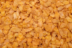 Corn flakes breakfast cereal background Stock Photography