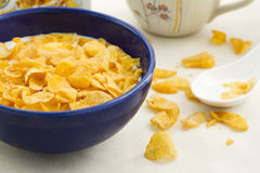 Corn flakes breakfast in the morning Royalty Free Stock Image