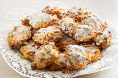 Corn Flakes Cookies. Homemade corn flakes Cookies with icing sugar Stock Image