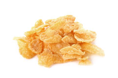 Corn flakes, cornflakes isolated on white background Royalty Free Stock Photography