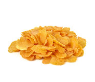 Corn flakes, cornflakes isolated white background Stock Images