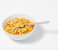 Corn flakes in deep plate Royalty Free Stock Photo