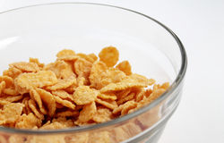 Corn-Flakes in einer Schüssel Stockfotos