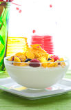 Corn flakes and fresh berries Royalty Free Stock Photo