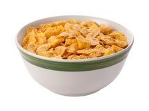 Corn Flakes getrennt mit Ausschnittspfad lizenzfreie stockfotos
