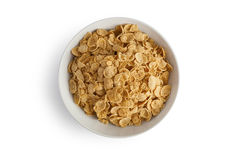 Corn flakes isolated in a plate Royalty Free Stock Image