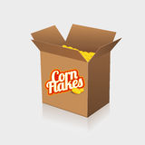 Corn flakes  label on box Stock Photos