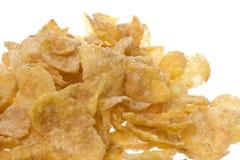 Corn Flakes Macro Stock Photo