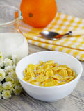 Corn flakes with milk Royalty Free Stock Photo