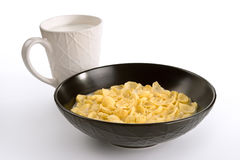 Corn-flakes and milk Stock Images