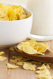 corn flakes with milk Stock Photography