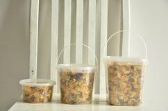 Corn-Flakes mit Getreide stockfoto