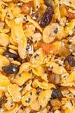 Corn-Flakes mit Mandel, Honig, indischem Sesam und Trockenfrüchten Stockfotografie