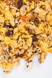 Corn-Flakes mit Mandel, Honig, indischem Sesam und Trockenfrüchten Stockfotos
