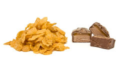 Corn Flakes n Chocolate Royalty Free Stock Images